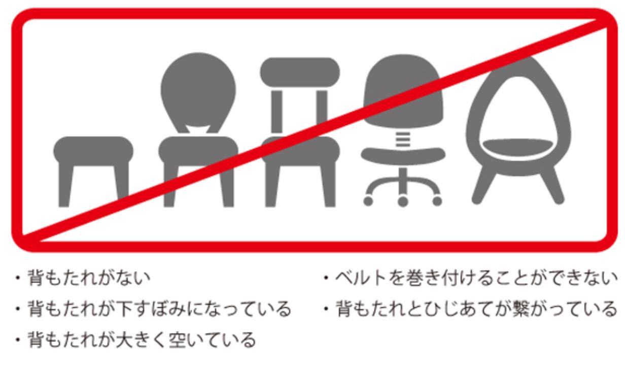チェアベルト・使えない椅子一覧