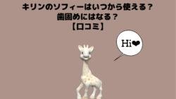 【口コミ】キリンのソフィーはいつから使える?赤ちゃん用歯固めにはなる?